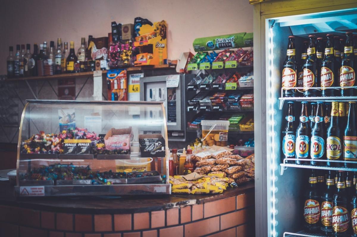 retail front commercial fridge